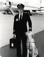 Seeing eye dog with pilot?